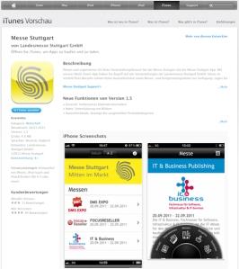 Messe Stuttgart App im iTunes Sore